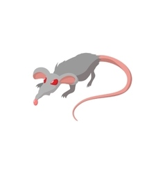 Rat with red eyes cartoon icon vector