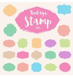 Set of pastel colour vintage Stamp Blank frame vector image