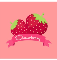 Strawberry fruit banner vector