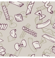 Italian pasta seamless pattern collection vector