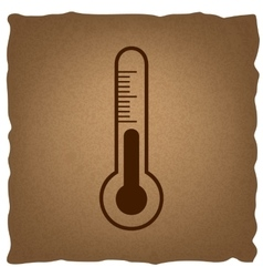 Thermometer sign vintage effect vector