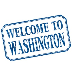 Washington - welcome blue vintage isolated label vector