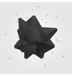 Black polygonal geometric abstract shape figure vector