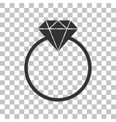 Diamond sign  dark gray icon on vector