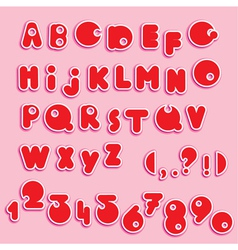 Abc - english alphabet and numerals - funny cartoo vector