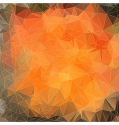 Abstract orange background with triangles vector image vector image
