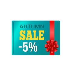 autumn sale -5 card sample on vector image vector image