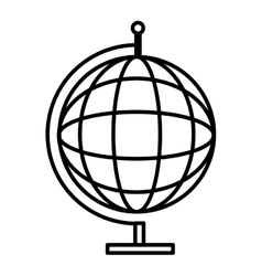 Black and white world map graphic vector