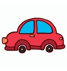 Cartoon car on white background t-shirt design vector