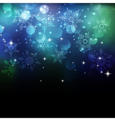 Christmas snowflkes background vector image vector image