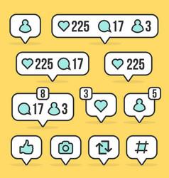 creative of social media sign vector image