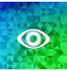 Eye icon human eye symbolTriangle background vector image