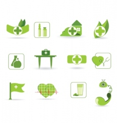 First aid an icons vector