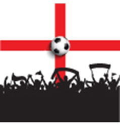 Football supporters on England flag vector image vector image