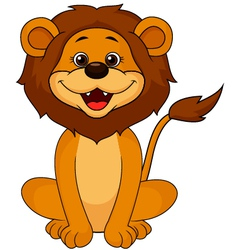 Funny lion sitting vector image vector image