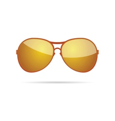 Gold sunglasses classic color vector