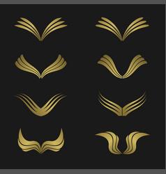 golden wing set vector image