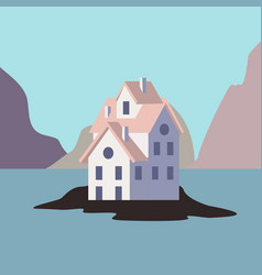 house by the ocean vector image