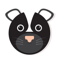 isolated skunk face vector image