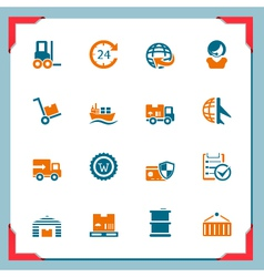 Logistic icons vector