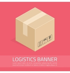 logistics banner vector image vector image