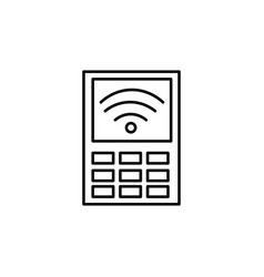 payment terminal icon vector image