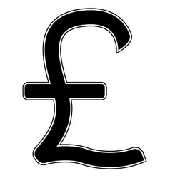 pound sterling the black color icon vector image