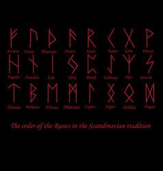 Red rune metal runes vector