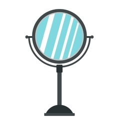 Round mirror icon flat style vector