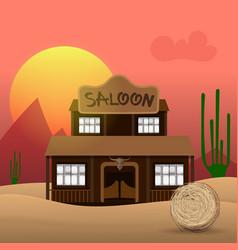 Saloon - art vector