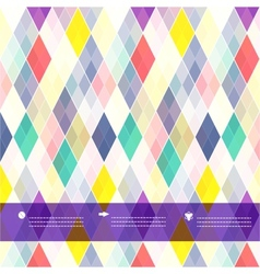 Seamless background of plaid pattern with place vector image vector image