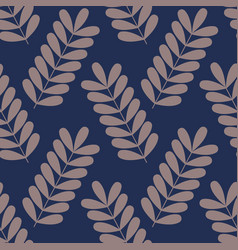 Seamless pattern with branches vector