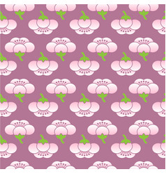 Seamless sakura flower pattern vector