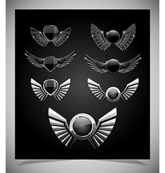 Set of emblemes vector