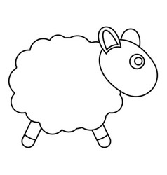 Sheep toy icon outline style vector