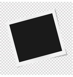 Square frame template with shadows isolated on vector