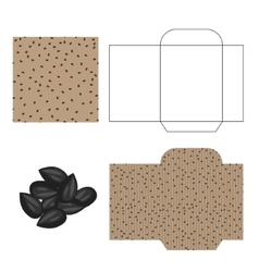 Sunflower seeds packaging design kit recycled vector