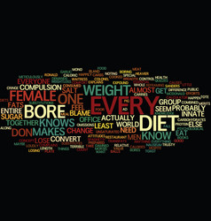 The diet bore text background word cloud concept vector