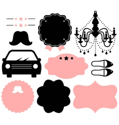 Vintage design elements isolate on white vector image vector image