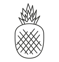 Pineapple fruit isolated icon vector