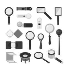 Magnifier loupe icons vector