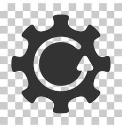 Cog rotation direction icon vector