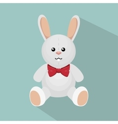 Rabbit bunny toy isolated icon vector