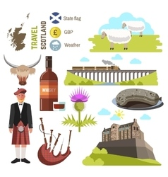 Scotland travel collection vector