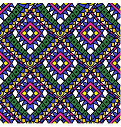 Green colored summer ethnic seamless pattern vector