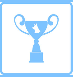 Dog prize cup icon vector