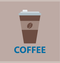 Coffee cup take away thermo cup isolated vector