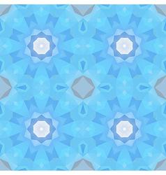 seamless blue geometric circle vector image