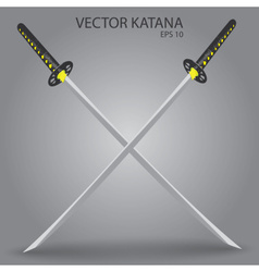 Katana sword eps10 vector