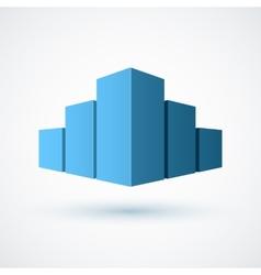 Real estate conceptual logo icon vector image
